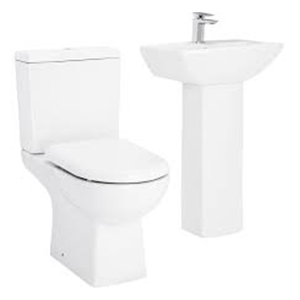 Toilet and Basin